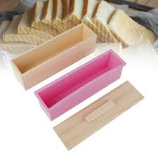 1200g <b>Silicone Soap Mold Rectangular</b> Wooden Box with Flexible ...