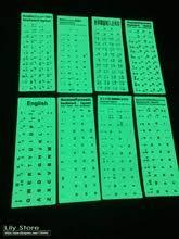 Светящаяся люмиозная светящаяся <b>наклейка на клавиатуру для</b> ...