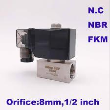 80bar high pressure solenoid valve 2 way 1/4 3/8 1/2 BSP <b>12V</b> 24V ...