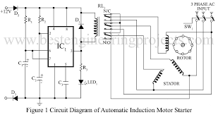 3 phase induction motor starter verified project best 3 Phase Motor Circuit Diagram circuit diagram of automatic induction motor stater 3 phase motor control circuit diagram