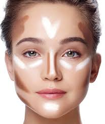 elongate a square face with v shaped hightlights under the eyes learn more on the glossy