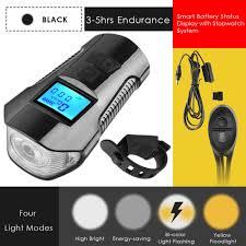 3 in 1 USB Rechargable <b>Bicycle Lamp Speedometer</b> Odometer ...