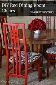 table chairs ose diy red dining room chairs from houseonthewaycom