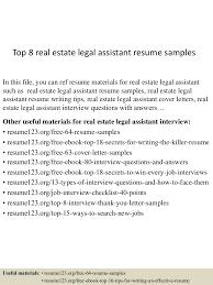 resume for legal assistant real estate cipanewsletter top8realestatelegalassistantresumesamples 150529143807 lva1 app6891 thumbnail 4 jpg cb u003d1432910336 from slideshare net