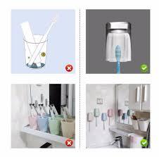 <b>1Pcs Stainless Steel</b> Rustproof Toothbrush Holder Toothpaste ...
