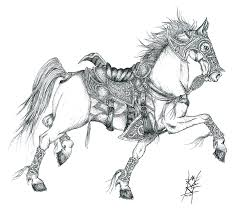 Image result for white horse drawing
