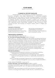 commercial managers resume s management lewesmr sample resume interpersonal relationships essay property management resume