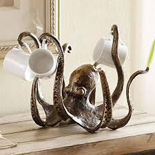 Bella Coastal Decor Octopus Tea Cup Holder: Home ... - Amazon.com