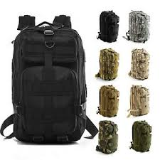 <b>Military Tactical Army</b> Backpack Rucksack Camping Hiking Trekking ...