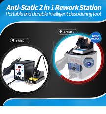<b>YIHUA</b> 8786D Soldering <b>Station</b> Digital Display Hot Air Heat Gun ...