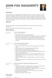 Senior Sales Manager Resume Samples   VisualCV Resume Samples Database