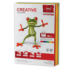 <b>Бумага CREATIVE color</b> (<b>Креатив</b>) А4, 80 г/м2, 250 л., (5 цв.х50 л ...