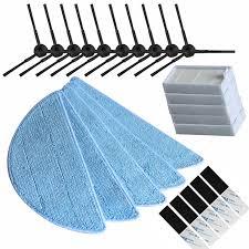 10*side Brush+5*hepa Filter+5*Mop Cloth+5*magic paste ...