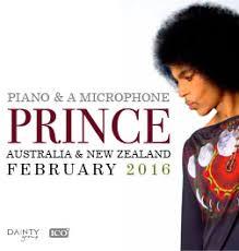 <b>PRINCE</b> '<b>PIANO</b> & A MICROPHONE' TOUR 2016 - TEG DAINTY