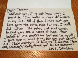 thank you letter for teachers thank you letter  the