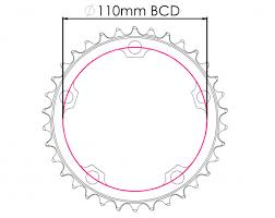 Raptor Chainring 110BCD - Narrow <b>Wide</b> - Superstar Components