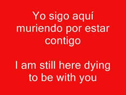 Learning Spanish Romantic Songs.Level 2.(Translated to English ... via Relatably.com
