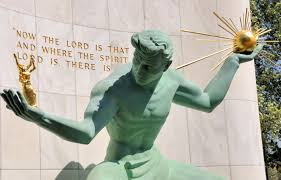 Spirit of Detroit Statue is the Jolly Green Giant