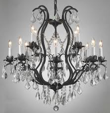 wrought iron crystal chandelier lighting chandeliers h30 x w28 chandelier lighting amazoncom black crystal chandelier lighting
