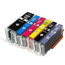 Set of 6 non-OEM <b>Ink</b> Cartridges to replace Canon 580 XXL / 581 ...