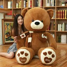 <b>High Quality</b> 80/100CM <b>4 Colors</b> Teddy Bear With Scarf Stuffed ...