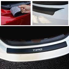 PU leather <b>Carbon fiber Styling</b> Car Accessories <b>After</b> guard Rear ...