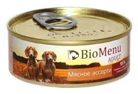 Корм для собак <b>BioMenu Adult консервы</b> для собак мясное ассорти