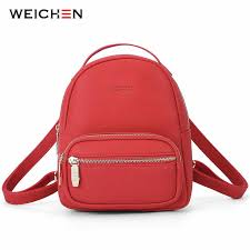 <b>WEICHEN Multi</b>-<b>Function Women</b> Backpack Leather Fashion <b>Small</b> ...