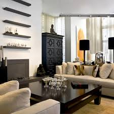contemporary living room furniture ideas with black geomatric armoire and square asian coffee table design as asian living room furniture