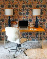 officecool retro home office decorating with l shape wooden office desk and orange office bright idea home office ideas