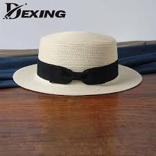 wholesale 2019 flat bow <b>straw hat</b> girls <b>summer sun Hats</b> For ...