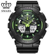 <b>SMAEL Men</b> Sports Watches Digital <b>Double</b> Time Chronograph ...