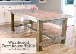 Dining Room Tables Plans Weathered Farmhouse Table Farmhousetablejpg Weathered Farmhouse