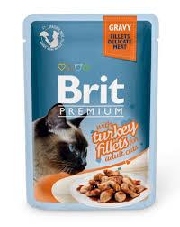 <b>Brit Пауч</b> для кошек <b>GRAVY</b> Turkey fillets Кусочки из филе ...