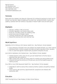 Professional Gym Assistant Templates to Showcase Your Talent     My Perfect Resume Resume Templates  Gym Assistant