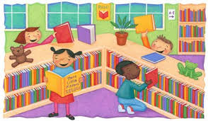 Image result for library images with kids in clip art