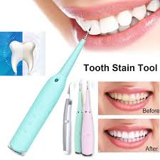 Portable <b>Electric Scaler Dental</b> Calculus Remover Tooth Stain Tartar ...