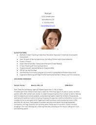 sample resume for nanny sample resume for nanny makemoney alex tk