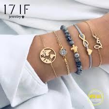 17IF <b>5 Pcs/ Set Bohemian Turtle</b> Charm Bracelets Bangles For ...