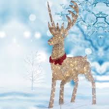 deer christmas decor outdoor christmas   m led reindeer outdoor indoor christmas decoration