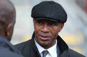 Cyrille Regis in attendance during the Sky Bet League One match between Leyton Orient and MK Dons at The Matchroom ... - Cyrille%2BRegis%2BLeyton%2BOrient%2Bv%2BMK%2BDons%2BSky%2BWSnk3flp3LTl