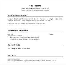 sample resume template chronological format of chronological resume