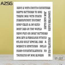 <b>AZSG</b> Blessing Word Silicone <b>Clear Stamps</b>/<b>Seal For</b> DIY ...