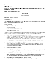 appendix d interview reports for airport business continuity page 88