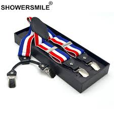 SHOWERSMILE Stripe <b>Suspenders</b> Pants <b>Men</b> Elastic Y Shape ...