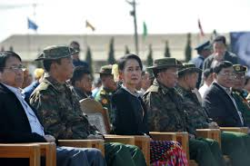 successes and setbacks looking back on the nld s first year in state counsellor aung san suu kyi at this year s union day commemoration in panglong shan state on 12 afp