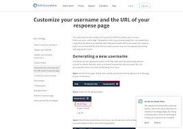 <b>Customize your</b> username and the URL of <b>your</b> response page | Poll ...