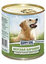 <b>Happy Dog Консервы</b> для собак баранина с сердцем, печенью ...