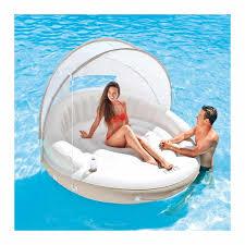 Inflatable Lounge for the Pool or Beach <b>Intex 58292 Canopy Island</b>