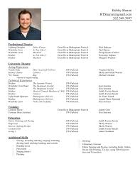 beginner acting resume sample acting resume smlf beginner child audition resume format